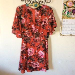 Lulu's Dresses - LuLu's Red floral Summer Dress